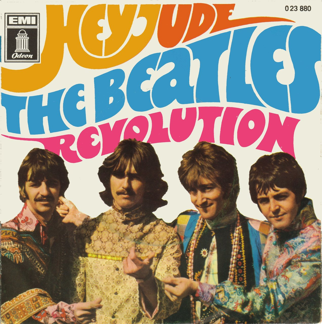 Обложка сингла Hey Hude / Revolution. Иллюстрация к песне Hey Jude (The Beatles)