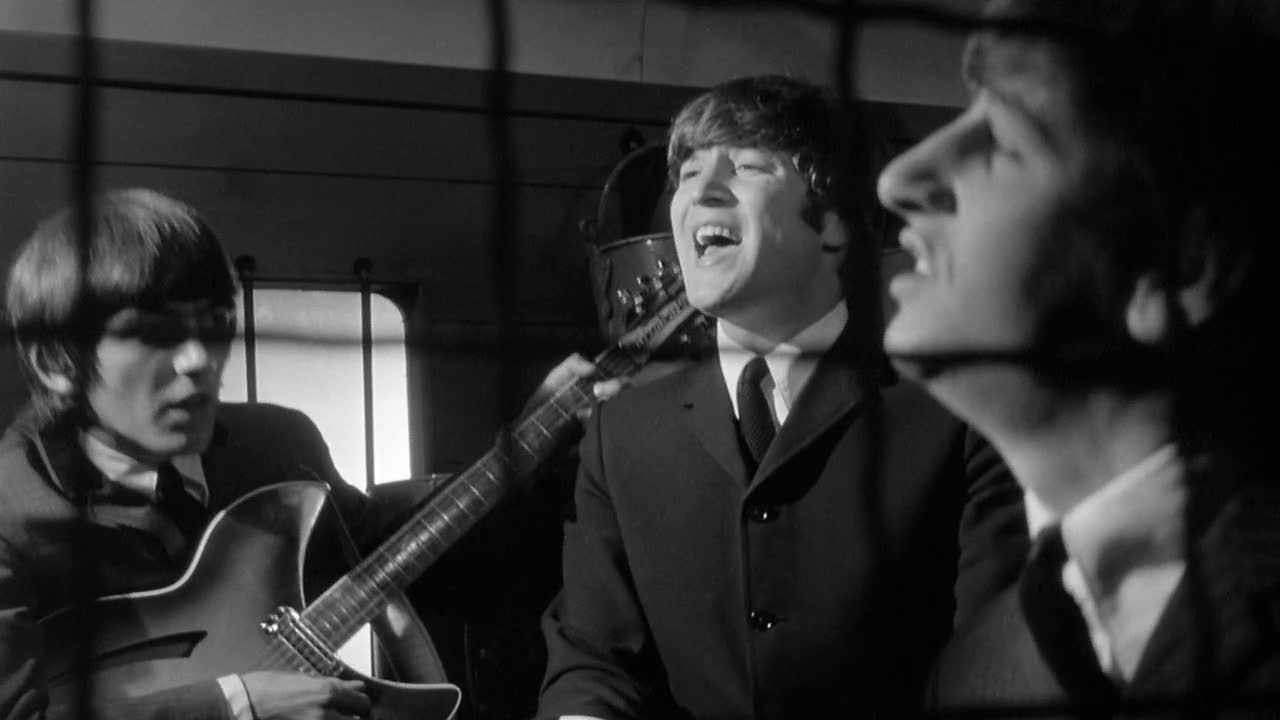 Битлз исполняют I Should Have Known Better в фильме A hard Day's night. Иллюстрация к песне I Should Have Known Better (The Beatles)